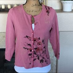 Spotted while shopping on Poshmark: J.Jill Floral Embroidered Cardigan! #poshmark #fashion #shopping #style #J. Jill #Sweaters