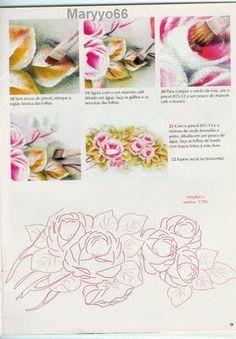 teste sonia: passo a passo rosa em pintura tecido molhado
