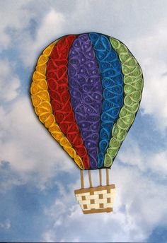 Quilling Hot Air Balloon by QuillingByBetty on Etsy, $40.00