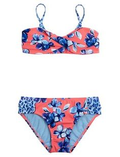 Floral Cheetah Bikini Swimsuit this is from justice i also love this i would like it in a size 12