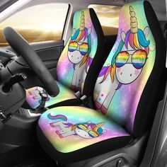 Funny Unicorn Horse Cool Colorful Car Seat Cover - Horses Funny - Funny Horse Meme - - These are unicorn seat covers my mom and dad got them for their cars! The post Funny Unicorn Horse Cool Colorful Car Seat Cover appeared first on Gag Dad. Unicorn Car, Diy Unicorn, Cute Unicorn, Rainbow Unicorn, Unicorn Birthday, Unicorn Clothes, Unicorn Shirt, Unicorn Room Decor, Unicorn Rooms