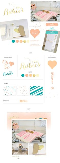 Two Rubies brand board | created by Two Brunettes Design Co. www.tworubies.com