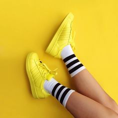 Adidas Pharrell Williams Supercolor Yellow Sneakers