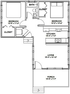 16x30 Tiny House -- #16X30H4F -- 705 sq ft - Excellent Floor Plans by darcy