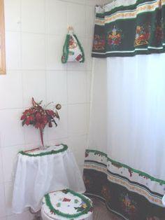 Creaciones Maria Silvia: Cortinas de Navidad Curtains, Shower, Summer Dresses, Margarita, Gingham Quilt, Hand Crafts, Christmas Quilting, Xmas Ornaments, Holiday Ornaments