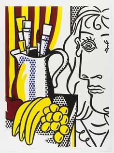 Roy Lichtenstein. Still Life with Picasso from the portfolio Homage to Picasso (Hommage à Picasso). 1973