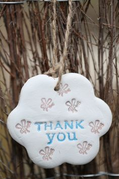 Thank You Gift, Hanging Heart Decoration by flowercraftsboutique on Etsy