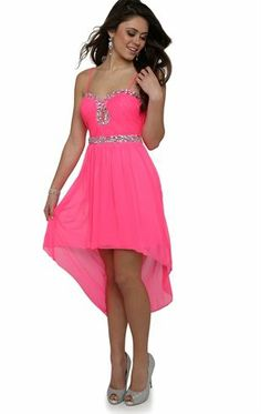 Deb Shops High Low #Prom #Dress with Stone Accents and Keyhole Cutout $72.90
