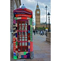 Jazzed-Up Phone Booth | 32 Incredibly Cool Yarn-Bombings To Brighten Your Day