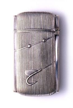 "Silver ""Fishing Reel"" Matchsafe, Late 19th Century"