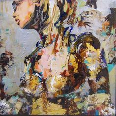 Céline Brossard, Celine, Present Day, Mixed Media Art, Medieval, Urban, Portrait, Abstract, Creative, Painting