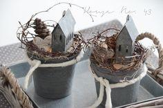 House No. 43: mehr Winter Deko und natürliche Ofen Anzünder