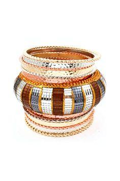 Tri Tone Kylie Bracelet Set