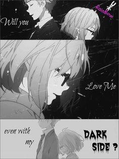 ¿Me seguirás queriendo a pesar de mi lado oscuro?