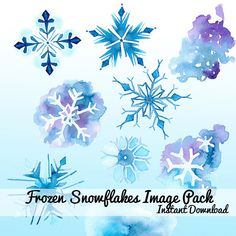 Watercolor snowflakes Clip art Clipart by DigitalPressCreation, $7.50 This is one I'm actually proud of...