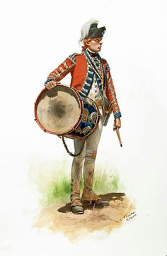 British 21st. Regt. Saratoga campaign. Royal regt. didn't wear the reverse colors of the regt. as line regt. did......