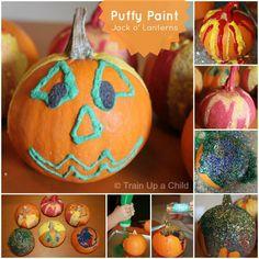 Puffy Paint Jack 'o Lanterns - open ended Halloween art