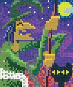 Faber Castell - Livro com desenhos em pixels para pintar com lápis de cor ou canetinha. Versão criativa criada pela marca.