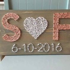 Wedding/Anniversary String Art Sign Date Art Wall decor Personalized gift for her Wedding gift Mothers Day Romantic Gift DIY Wood Signs Art Date Day Decor Gift Mothers Personalized Romantic Sign String Wall Wedding WeddingAnniversary Color Note, String Art Diy, Wedding String Art, String Art Letters, String Crafts, Wedding Art, Wedding Beauty, Wedding Makeup, Wedding Colors