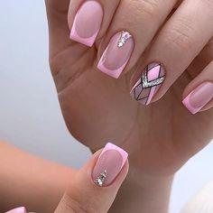 Precious Nails, Geometric Nail Art, Stylish Nails, Nail Designs, Beauty, Beautiful, Prom, Vestidos, Short Nail Manicure