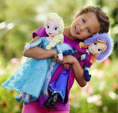 Sweet Cute Girls Princess Anna and Elsa Dolls Plush Toys