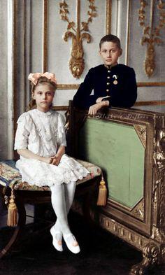 Georgy and Vera, children of Grand Duke Konstantin Konstantinovich