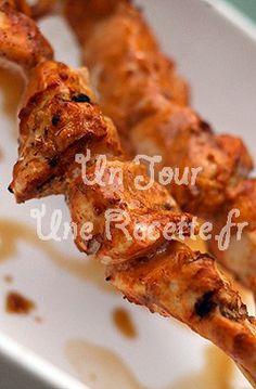 Photo de la recette Brochettes de poulet à l'indienne au barbecue