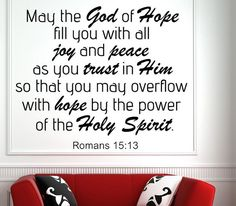 Romans 15:13 Bible Verse Wall Decal