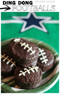 Football cupcakes fo