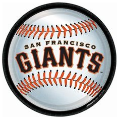 Serve fan favorites at home on San Francisco Giants Lunch Plates! These officially licensed MLB round paper plates feature the San Francisco Giants team logo. Sf Giants Logo, Giants Team, My Giants, Mlb Team Logos, Mlb Teams, Sports Teams, Sports Art, San Francisco Giants Baseball, Baseball Equipment