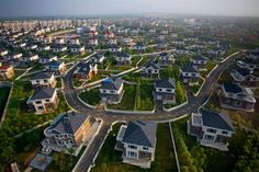 An article from NBC News discusses the real estate bubble that has formed in China after billion dollar cities have been built and become ghost towns,. Ghost City, Ghost Towns, Off Color Humor, Shenyang, Photos Of Eyes, White Boys, Birds Eye View, Aerial Photography, Abandoned Places