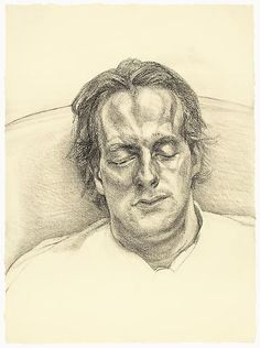 "Lucian Freud, ""Head of a Man""  1986  Charcoal on paper  25 3/8 x 18 5/8 inches (64.4 x 47.3 cm)  The Museum of Modern Art, New York. Gift of Agnes Gund, 1988 (36.1988)  © The Lucian Freud Archive  Digital Image © The Museum of Modern Art/Licensed by SCALA / Art Resource, NY"