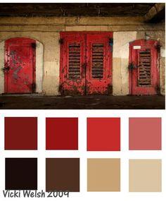 Color Palette Red Door