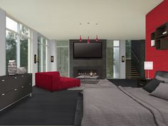 Black And Red Living Room Part 90