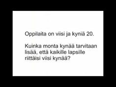 Viikon matikkapähkinöitä Teaching Math, Maths, Math Problem Solving, Math Problems, Youtube, Youtubers, Math Word Problems, Youtube Movies, Math Activities