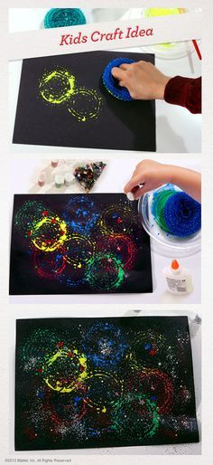 Here's a really different way to make a Fourth of July painting – your kids will love it! #Crafts #Activity #4thofJuly