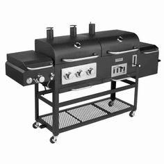 Gas, charcoal, burner & smoker.