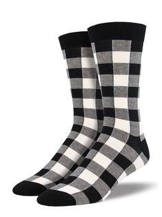 6de982eb25 black   white plaid men s socks