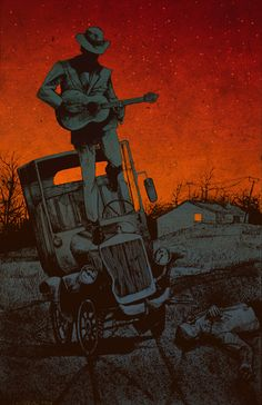 Robert Johnson blues by Patryk Hardziej