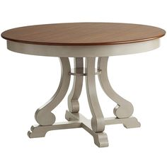 Rustic and civilized all at once. The hand-finished Marchella dining tables have a fine-grained top, sturdy hardwood base and whimsical scrolled legs. Pair with our matching chairs, or mix things up for a cheerful, eclectic look. Grey Round Dining Table, Wooden Dining Tables, Dining Room Table, Kitchen Tables, Grey Table, Dining Rooms, Dining Area, Home Decor Furniture, Dining Room Furniture