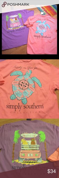 NWT Simply Southern Large-2 shirts 2 shirts, short sleeve both new with tags and a size large Simply Southern Tops Tees - Short Sleeve