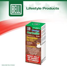 Bell Decongestant Tea is a herbal decongestant tea formula designed to combat fluid and mucus build-up in the lungs, sinuses and ears. Learn more about Bell Decongestant Tea on our website today. http://www.belllifestyleproducts.ca/decongestant-tea-43.htm