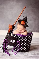 Halloween Newborn Baby Photo Prop Galvanized by BroddersTubs, $30.00