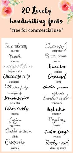 20 Beautiful and feminine handwriting fonts, free for commercial use. Download these handwritten style script fonts today and use for your art and design projects for free.