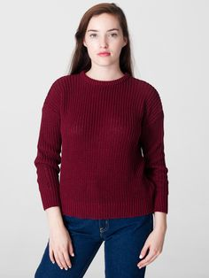 Unisex Fisherman's Pullover | New Colors | New & Now's Women | American Apparel (burgundy sz L)
