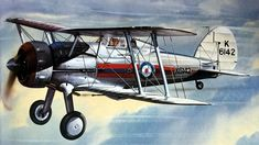 Gloster Gladiator by Roy Cross Airfix Models, Aircraft Painting, Airplane Art, Cross Art, Ww2 Planes, Car Drawings, Aviation Art, Retro Futurism, Military Art