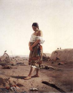 Juan Manuel Blanes, 'La paraguaya', 1879. Óleo sobre lienzo, 100 x 80 cm / Paraguay, arte latinoamericano