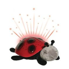 Shower the ceiling with stars with this Twilight Ladybug. A great nightlight, this unique item stays lit and automatically shuts off after 40 minutes-- creating a starry night inside your baby's room. The light illuminates the walls subtly so that baby can still sleep but glows enough so that you can find your way to their side in a moment!