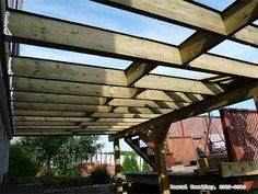 Raised Deck - Frame Joists Hangers and Waterproof Strips Garden Structures, Outdoor Structures, Shed Ramp, Deck Building Plans, Deck Framing, Raised Deck, How To Build Steps, Wooden Patios, Backyard Projects