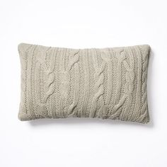 Braided Cable Pillow Cover – Oatmeal   west elm master bedroom?